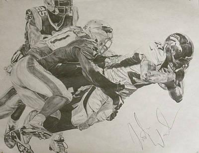 Broncos Vs. Patriots Poster by Justin Wade