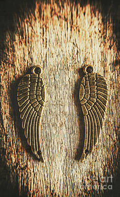 Bronze Angel Wings Poster
