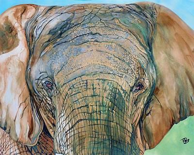 Bronze Elephant Poster