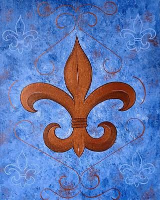 Bronze Fleur De Lis Poster