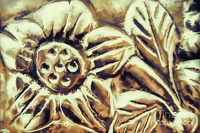Bronze Flower Poster by Jean OKeeffe Macro Abundance Art