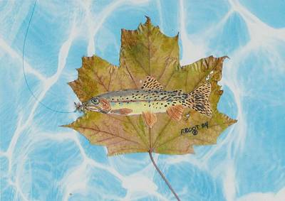 Brook Trout On Fly Poster