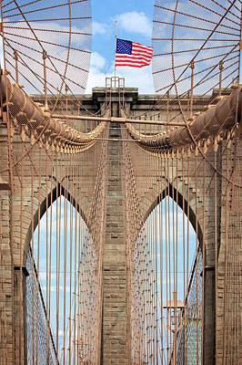 Poster featuring the photograph Brooklyn Bridge 2  by Emmanuel Panagiotakis