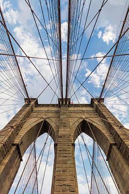 Poster featuring the photograph Brooklyn Bridge 3 by Emmanuel Panagiotakis