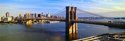 Brooklyn Bridge, Brooklyn View, New York Poster