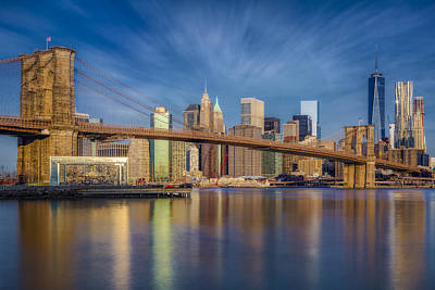 Poster featuring the photograph Brooklyn Bridge From Dumbo by Susan Candelario
