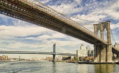 Brooklyn Bridge Poster by John Amelia