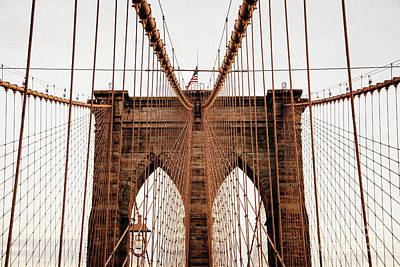 Brooklyn Bridge Poster by MGL Meiklejohn Graphics Licensing