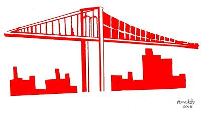 Brooklyn Bridge Poster by Michael Grubb
