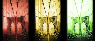 Brooklyn Bridge Nyc Mug Poster by Edward Fielding