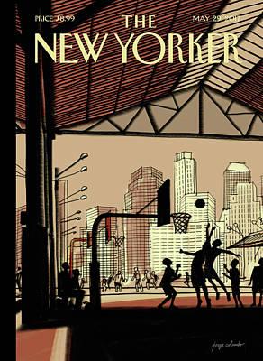 Brooklyn Bridge Park Poster by Jorge Colombo