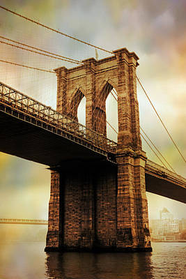 Brooklyn Bridge Perspective Poster by Jessica Jenney