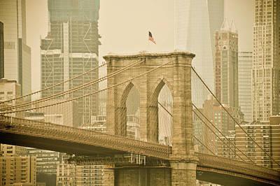Brooklyn Bridge Poster by Trish Tritz