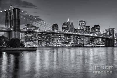 Brooklyn Bridge Twilight II Poster