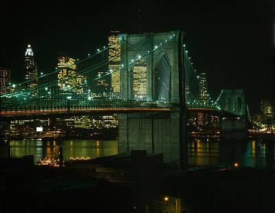 Brooklyn Bridge, View Of The Brooklyn Poster by Everett