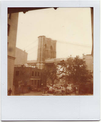 Brooklyn Bridge With Ip Px100 Film Poster by Julie VanDore