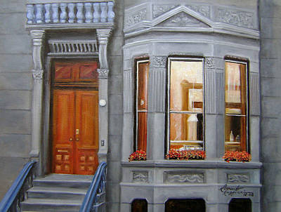 Brooklyn Brownstone Window Poster