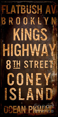 Brooklyn Street Sign Poster by Mindy Sommers
