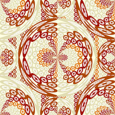 Brown And Tan Pattern Poster by Gaspar Avila