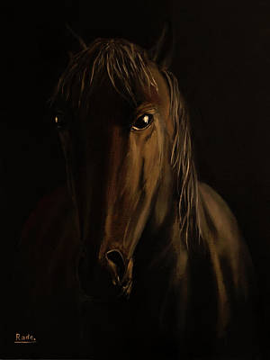 Brown Horse Poster by Radoslav Nedelchev
