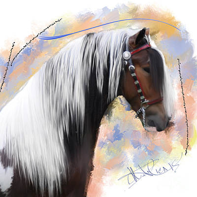 Brown Ice Gypsy Vanner Poster