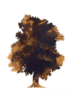 Brown Oak Minimalist Painting Poster by Joanna Szmerdt