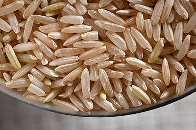 Brown Rice In Bowl Poster