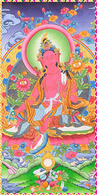 Brown Tara With Long-life Vase Poster by Lanjee Chee