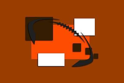 Browns Abstract Shirt Poster by Joe Hamilton
