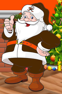 Browns Santa Claus Poster