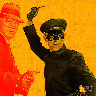 Bruce Lee Kato And The Green Hornet - Square Poster by Wingsdomain Art and Photography