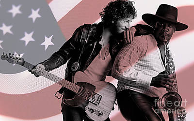 Bruce Springsteen Clarence Clemons Poster by Marvin Blaine