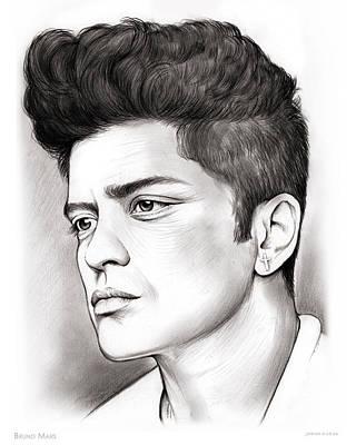 Bruno Mars Poster by Greg Joens