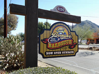 Bryan's Black Mountain Barbecue Poster