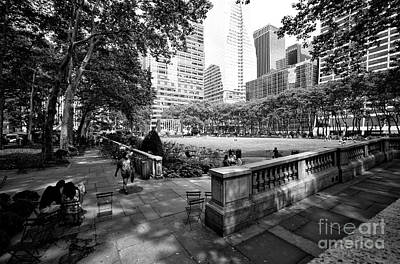 Bryant Park Angles Poster by John Rizzuto