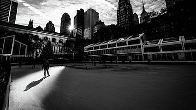 Bryant Park - New York - Black And White Street Photography Poster