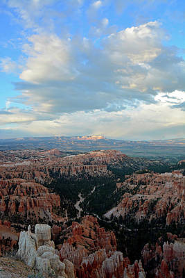 Poster featuring the photograph Bryce Canyon Skyview by Bruce Gourley