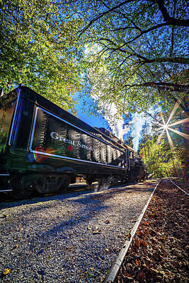 Bryson City, Nc October 23, 2016 - Great Smoky Mountains Train R Poster