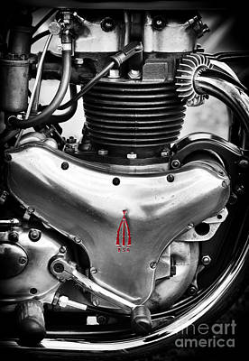 Bsa A10 Golden Flash Engine Poster by Tim Gainey