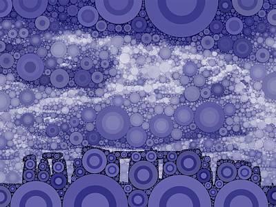Bubble Art Stonehenge Poster by John Springfield