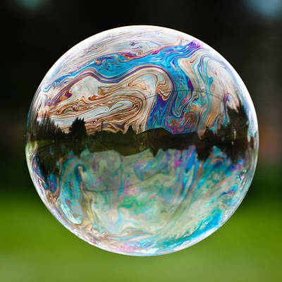 Poster featuring the photograph Bubble by Brian Bonham