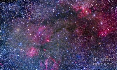 Bubble Nebula And Cave Nebula Mosaic Poster by Alan Dyer