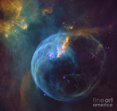 Bubble Nebula Outer Space Space Exploration Poster by Tina Lavoie