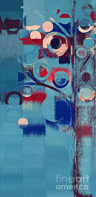 Poster featuring the painting Bubble Tree - 85e-j4 by Variance Collections