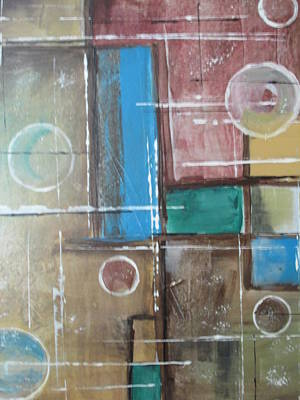 Poster featuring the painting Bubbles In The Air by Sharyn Winters