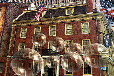 Bubbles Of New York History - Photo Collage Poster