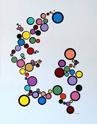 Poster featuring the painting Bubbles2 by Thomas Gronowski