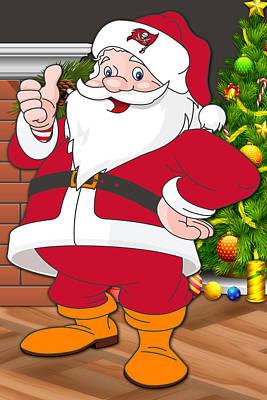 Buccaneers Santa Claus Poster