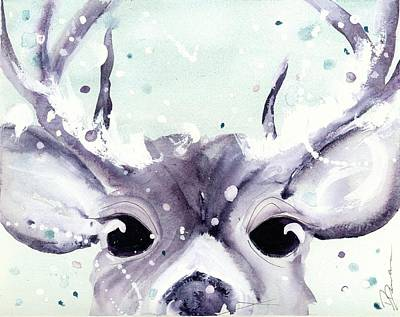 Poster featuring the painting Buck by Dawn Derman