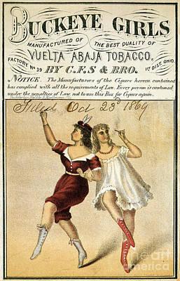 Buckeye Girls Tobacco Poster 1869 Poster by Jon Neidert